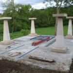Construcción de hórreos - Paso 1