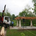 Construcción de hórreos - Paso 12