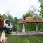 Construcción de hórreos - Paso 14