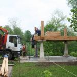 Construcción de hórreos - Paso 16