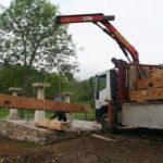 Construcción de hórreos - Paso 2