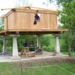 Construcción de hórreos - Paso 48