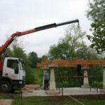 Construcción de hórreos - Paso 5