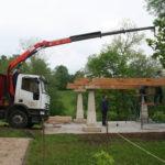 Construcción de hórreos - Paso 7