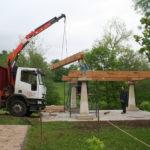 Construcción de hórreos - Paso 8