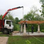 Construcción de hórreos - Paso 9